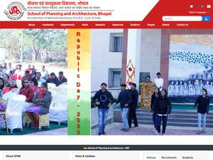 School of Planning and Architecture, Bhopal Screenshot