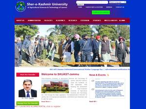 Sher-e-Kashmir University of Agricultural Sciences and Technology of Jammu's Website Screenshot