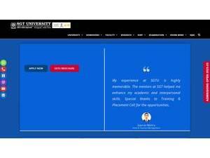 Shree Guru Gobind Singh Tricentenary University's Website Screenshot