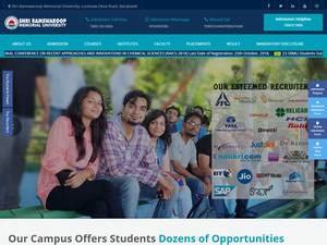 Shri Ramswaroop Memorial University's Website Screenshot