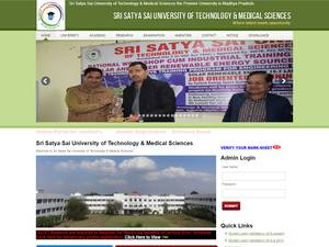 Sri Satya Sai University of Technology and Medical Sciences's Website Screenshot