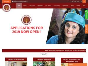 Sri Sri University's Website Screenshot