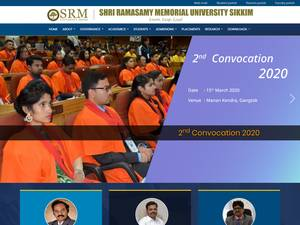 SRM University, Sikkim's Website Screenshot
