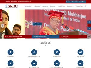Swami Rama Himalayan University's Website Screenshot
