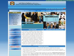 Swami Vivekanand University's Website Screenshot