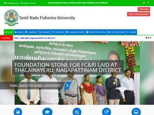 Tamil Nadu Fisheries University's Website Screenshot