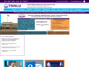 Tamil Nadu National Law University's Website Screenshot