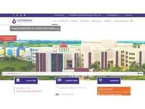 Uka Tarsadia University's Website Screenshot