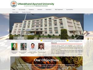 Uttarakhand Ayurved University Screenshot