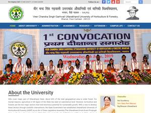 Uttarakhand University of Horticulture and Forestry's Website Screenshot