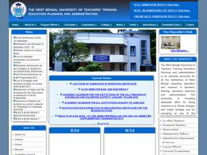 West Bengal University of Teachers' Training, Education Planning and Administration's Website Screenshot