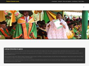 Lukenya University's Website Screenshot