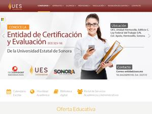 Universidad Estatal de Sonora's Website Screenshot