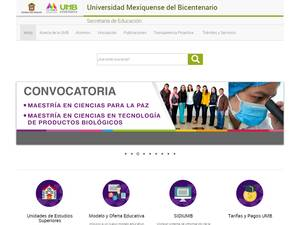 Universidad Mexiquense del Bicentenario's Website Screenshot