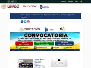 Instituto Tecnológico de Frontera Comalapa's Website Screenshot