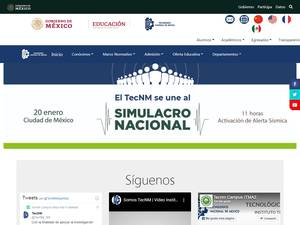 Instituto Tecnológico de Milpa Alta II's Website Screenshot