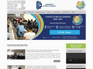 Instituto Tecnológico de Norte de Nayarit's Website Screenshot