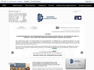 Instituto Tecnológico de Álvaro Obregón's Website Screenshot