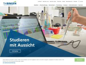 TH Bingen University of Applied Sciences Screenshot