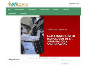 Universidad Tecnológica de Candelaria's Website Screenshot