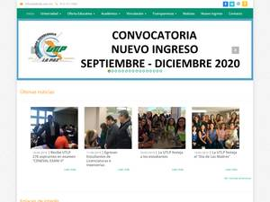 Universidad Tecnológica de La Paz's Website Screenshot