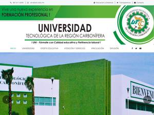 Universidad Tecnológica de la Región Carbonífera's Website Screenshot