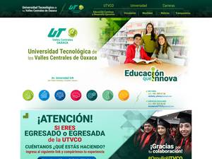 Universidad Tecnológica de los Valles Centrales de Oaxaca's Website Screenshot