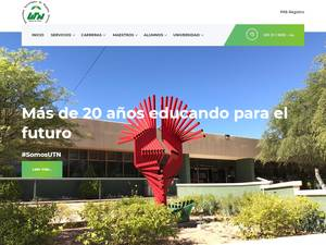 Universidad Tecnológica de Nogales, Sonora's Website Screenshot
