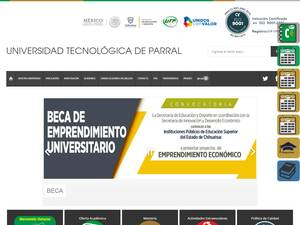 Universidad Tecnológica de Parral's Website Screenshot