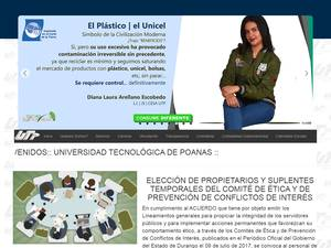 Universidad Tecnológica de Poanas's Website Screenshot