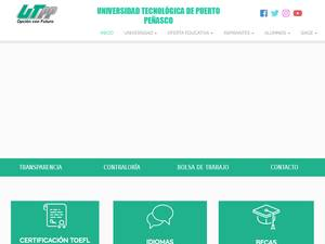 Universidad Tecnológica de Puerto Peñasco's Website Screenshot