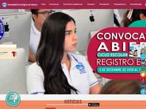 Universidad Tecnológica de Tabasco's Website Screenshot