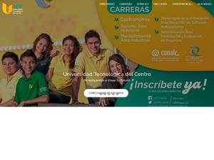 Universidad Tecnológica del Centro, Mexico's Website Screenshot