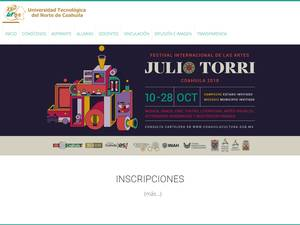 Universidad Tecnológica del Norte de Coahuila's Website Screenshot