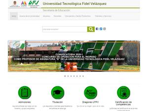 Universidad Tecnológica Fidel Velázquez's Website Screenshot