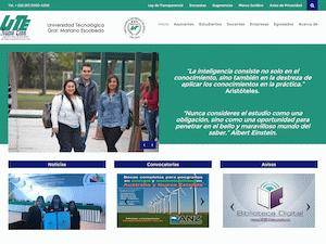 Universidad Tecnológica General Mariano Escobedo's Website Screenshot