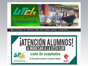 Universidad Tecnológica de Chihuhahua Sur Screenshot