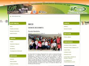 Universidad Tecnológica Regional del Sur's Website Screenshot