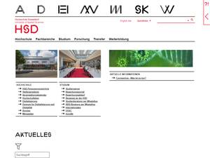 Düsseldorf University of Applied Sciences Screenshot