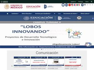 Instituto Tecnológico de Tláhuac II's Website Screenshot