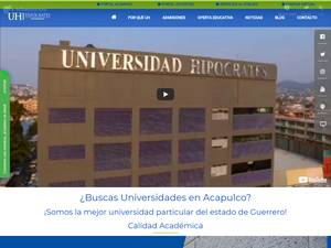 Universidad Hipócrates's Website Screenshot