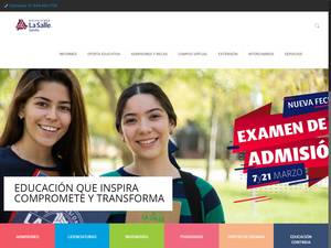 Universidad La Salle Saltillo's Website Screenshot