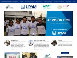 Universidad Politécnica de Amozoc's Website Screenshot