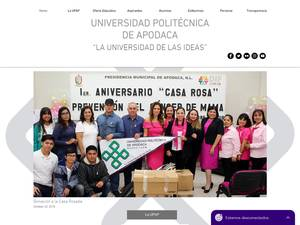 Universidad Politécnica de Apodaca's Website Screenshot