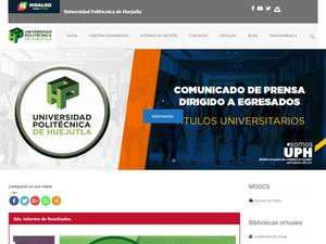 Universidad Politécnica de Huejutla's Website Screenshot