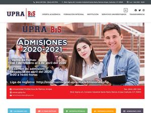 Universidad Politécnica de Ramos Arizpe's Website Screenshot