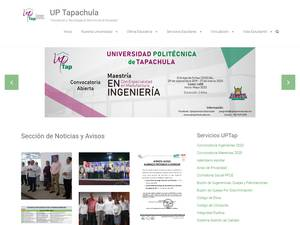 Universidad Politécnica de Tapachula's Website Screenshot