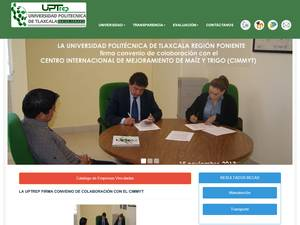 Universidad Politécnica de Tlaxcala Región Poniente's Website Screenshot