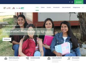 Universidad Politécnica de Uruapan's Website Screenshot