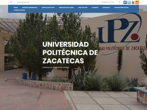 Universidad Politécnica de Zacatecas Screenshot